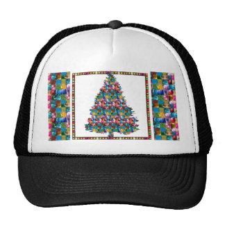 I LOVE XMAS : TREE jadded with PEARL JEWEL GEMS Trucker Hats