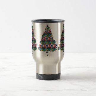 I LOVE XMAS : TREE jadded with PEARL JEWEL GEMS Coffee Mugs