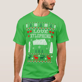 I Love Xylophone Christmas Ugly Sweater Tshirt