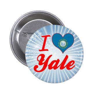 I Love Yale, South Dakota Pinback Button