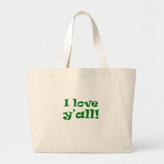 I Love Yall Large Tote Bag