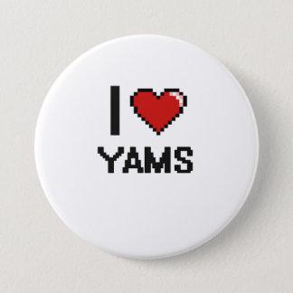I Love Yams 7.5 Cm Round Badge