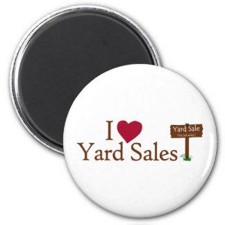 I Love Yard Sales 6 Cm Round Magnet