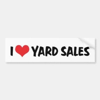 I Love Yard Sales Bumper Sticker