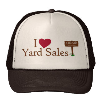 I Love Yard Sales Mesh Hat