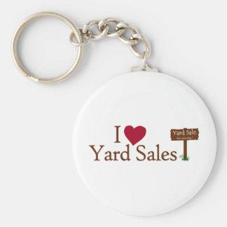 I Love Yard Sales Key Chain