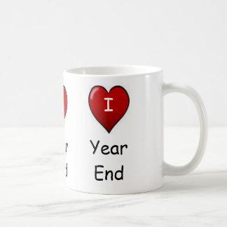I Love Year end! Triple-sided Basic White Mug