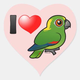 I Love Yellow-naped Amazons Heart Sticker