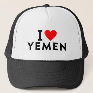 I love Yemen country like heart travel tourism Trucker Hat