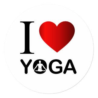 I love yoga 13 cm x 13 cm square invitation card