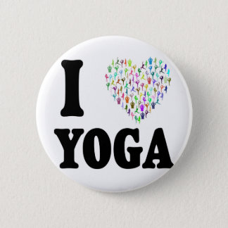 I Love Yoga 6 Cm Round Badge