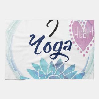 I Love Yoga Art Tea Towel