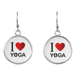 I love yoga earrings