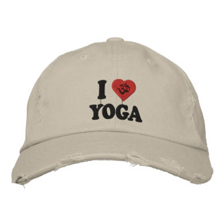 I Love Yoga Embroidered Cap Embroidered Hat