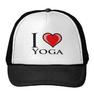 I Love Yoga Mesh Hats