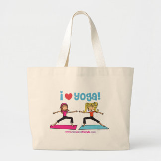 I love Yoga Large Tote Bag