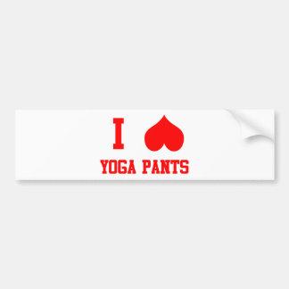 I Love Yoga Pants Bumper Sticker