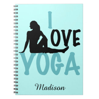 I Love Yoga Personalized Notebook