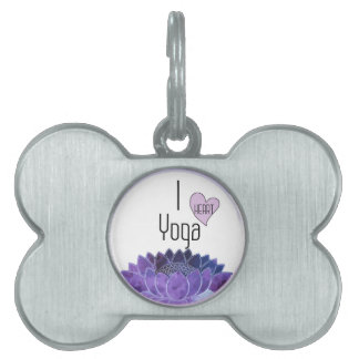 I Love Yoga Pet Tag