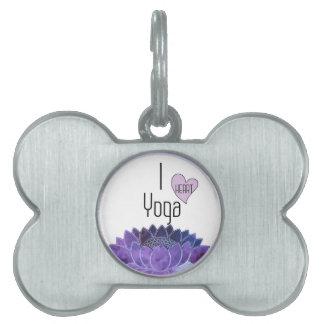 I Love Yoga Pet Tags