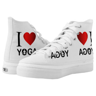 I love yoga printed shoes