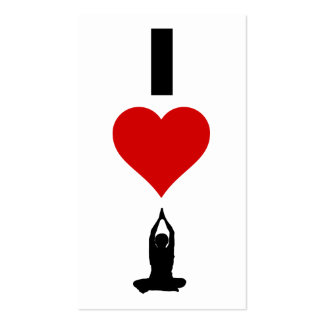 I Love Yoga (Vertical) Double-Sided Standard Business Cards (Pack Of 100)