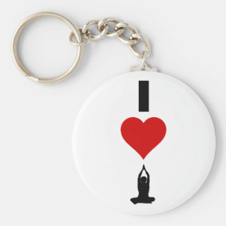 I Love Yoga (Vertical) Keychain
