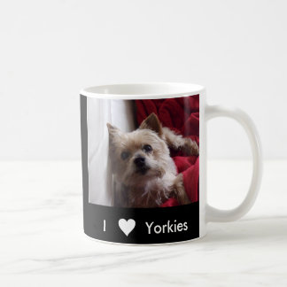 """I Love Yorkies"" Coffee Mug"
