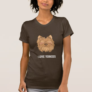I love Yorkies, cute yorkshire terrier, dog lovers T-shirt