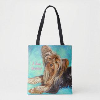 I Love Yorkies! with Name - Tote Bag