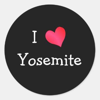 I Love Yosemite Round Sticker