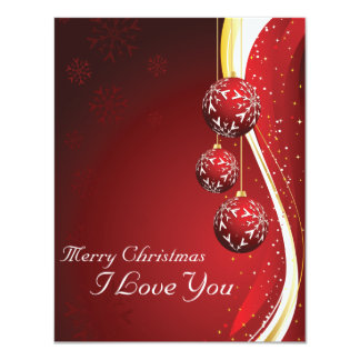 I Love You 11 Cm X 14 Cm Invitation Card