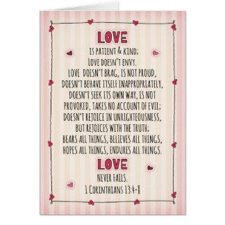 I Love You 1Corinthians 13:4-8 Card