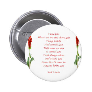 I love you 6 cm round badge