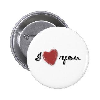 I love you 6 cm round badge