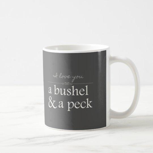 I Love You A Bushel & A Peck Grey Mug