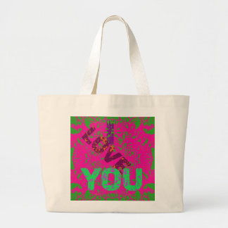 I LOVE YOU A Jumbo Tote