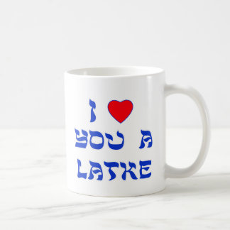 I Love You a Latke Classic White Coffee Mug