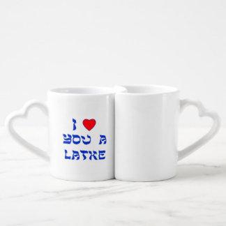 I Love You a Latke Couple Mugs