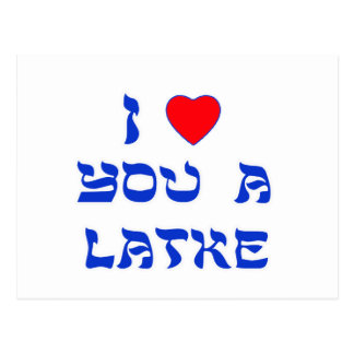 I Love You a Latke Post Cards