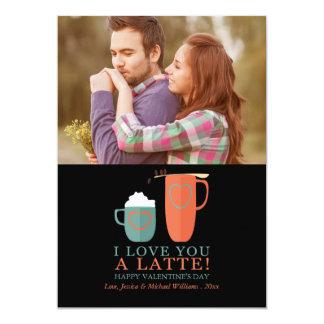 I Love You A Latte 13 Cm X 18 Cm Invitation Card