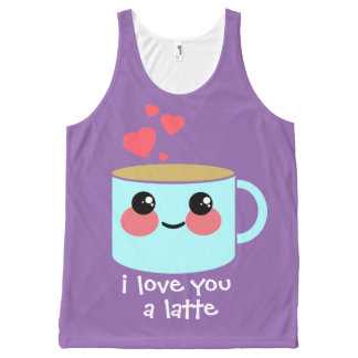 I Love You a Latte All-Over Print Tank Top