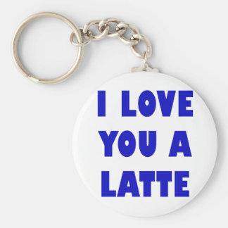 I Love You a Latte Key Ring