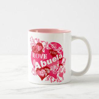 I Love You Abuela Two-Tone Coffee Mug