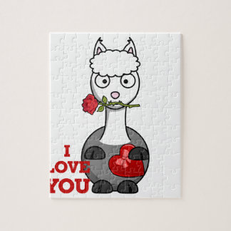 i love you alpaca jigsaw puzzle