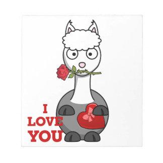 i love you alpaca notepad