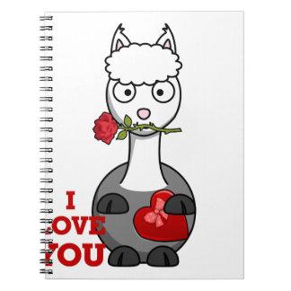 i love you alpaca spiral notebook