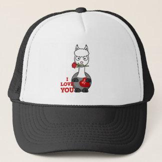 i love you alpaca trucker hat