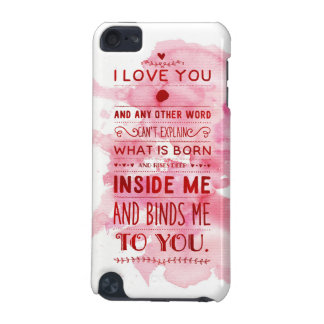 """""""I Love You And Any Other Word…"""" Funky Chic iPod Touch (5th Generation) Covers"""