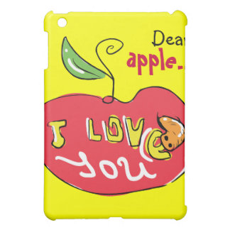 I love you apple with worm case cover for the iPad mini